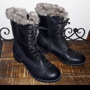 NEW CONDITION! Black Lace up boots